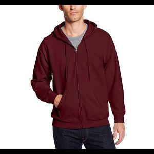 HANES Ecosmart full zip fleece hoodie